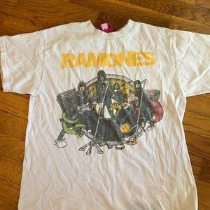 White ramones graphic T shirt